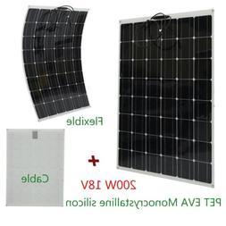 200 watt 18v 200w solar panel mono