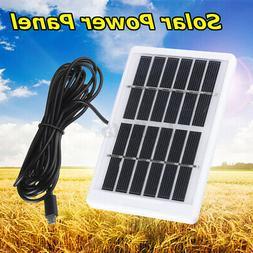 1.2W 6V Portable Solar Power Panel USB For Garden Household