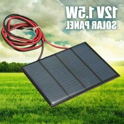 1.5W 12V Mini Power Solar Panel Small Cell Phone Module Char