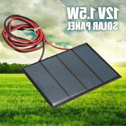 1.5W 12V Mini Power Solar Panel Small Cell Phone Module Char