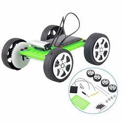 Lookatool 1 Set Mini Solar Powered Toy DIY Car Kit Children