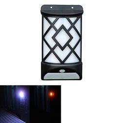 DSstyles 2 in 1 Solar Panel Powered LED PIR Motion Sensor Fa