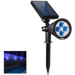 AMIR 2 in 1 Solar Spotlights, Upgraded Solar Garden Lights O
