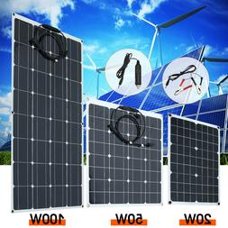 10-100W 5V 12/18V Monocrystalline Solar Panel Battery Charge