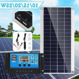 10/15/20/25W Solar Panel Dual USB+10A Solar Charger Controll
