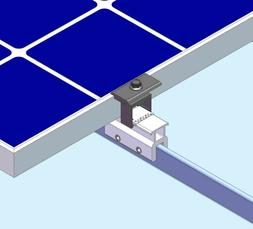10 Mid Clamp Standing Seam Metal Roof Solar Panel Module Mou
