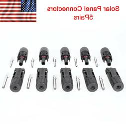 10 Pairs MC4 Connectors Male/Female for Solar Panels and Sol
