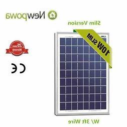 Newpowa 10 Watts 12 Volts Polycrystalline Solar Panel 10W 12