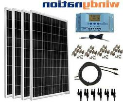 100 - 400 Watt Solar Panel Kit w/ LCD Charge Controller 12/2