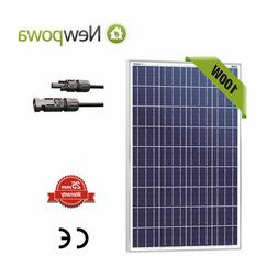 100Watts Solar Panel 12Volt Poly Off Grid Battery Charge RV