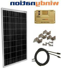 100 W Watt 100W  PV Solar Panel Kit 12V w/ LCD Controller RV