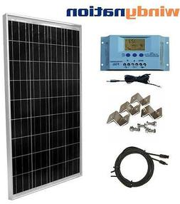 100 Watt 100W  Solar Panel Kit with LCD Solar Controller 12V