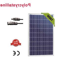 100 Watt 100W Watts Solar Panel 12V Volt Poly Off Grid Batte