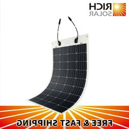 RICH SOLAR  50W 100W Flexible Solar Panel 12V PV Power RV Bo