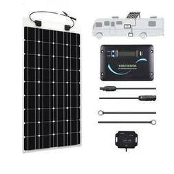 Renogy 100 Watt 12 Volt Monocrystalline Flexible Solar RV Ki