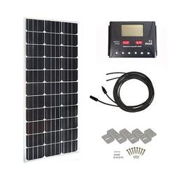 HQST 100 Watt 12 Volt Monocrystalline Slim Solar Panel Kit w