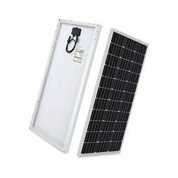 HQST 100 Watt 12 Volt Monocrystalline Solar Panel 100W