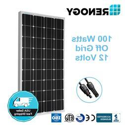 Renogy 100 Watt 12 Volt Monocrystalline Solar Panel 100W 12V