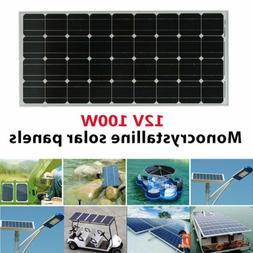 100 Watt 12 Volt Monocrystalline Solar Panel 100W 12V Mono O