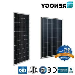 Renogy 100 Watt 12 Volt Mono/Poly Solar Panel 100W 12V Off G