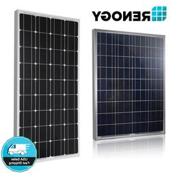 Renogy 100 Watt 12 Volt Solar Panel 100W 12V Off Grid Power