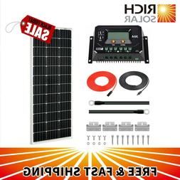 RICH SOLAR 100 Watts 12 Volts Monocrystalline Solar Starter