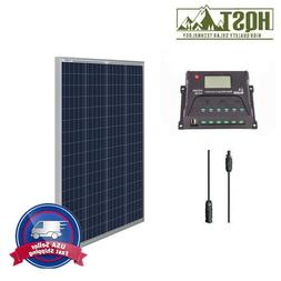 100 Watt 12 Volt Solar Panel Kit w/ Controller 100W 12V Batt