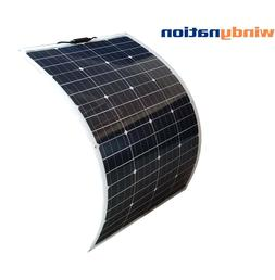 WindyNation 100 Watt 12V Flexible Solar Panel with Monocryst