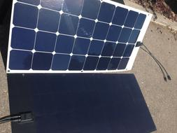 100 Watt 12V semi  Flexible Solar Panel with SunPower Solar