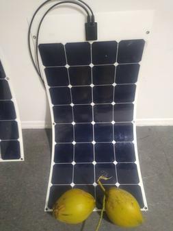 SunPower 100 Watt Flexible Solar Panel. High Efficiency for