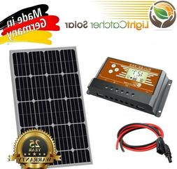 100 Watt Mono Solar Panel Kit with Charge Controller & Wire