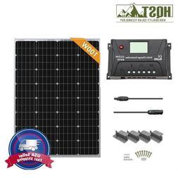 HQST 100W 12V Solar Panel Starter Kit W/ 20A Controller Off