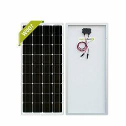 Newpowa 100 Watt Monocrystalline 100W 12V Solar Panel High E