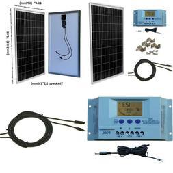 Windynation 100 Watt Solar Panel Off-Grid Rv Boat Kit With L