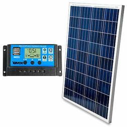 100 Watt Solar Panel w/ Charge Controller 12V - Off-Grid RV