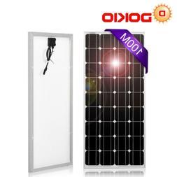 DOKIO 100 Watts 12 Volts Monocrystalline Solar Panel Suitabl