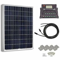 HQST 100 Watts 12 Volts Polycrystalline Solar Panel Off-Grid