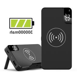 100000mAh Power Bank Qi 2IN1 Wireless Charging 2USB LED Port