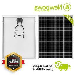 100W Solar Panel 100 Watt Module Monocrystalline 12V Newpowa