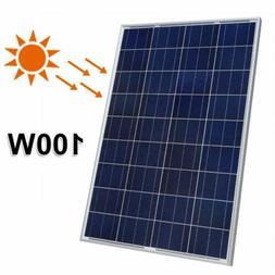 100w 100watts 12v solar panel module polycrystalline
