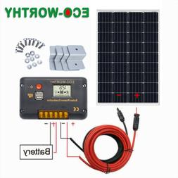 100W 120W Solar Panel kit 12V battery Charge 20A Controller