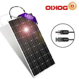 100W 12V/18 Volt Mono Solar Panel Flexible Lightweight Benda
