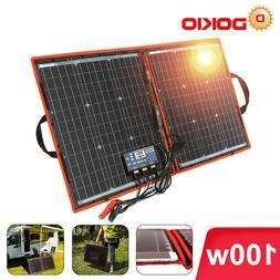 100W 12v Foldable Portable Solar Panel Bag Camping Solar Car