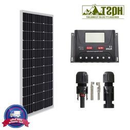 HQST 100W 12V Mono Solar Panel Basic Kit LCD Controller Home