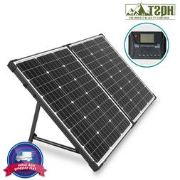 HQST 100W 12V Mono Portable Solar Panel Suitcase with Charge