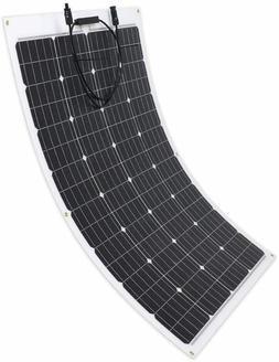 100W 12V Monocrystalline Waterproof Lightweight Flexible Sol
