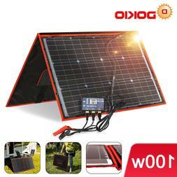 100W 12V Portable Solar Panel Kit With USB For Phone/Solar G