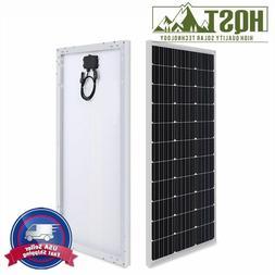 HQST 100W 12V Solar Panel 100 Watt 12 Volt Mono Poly Off Gir