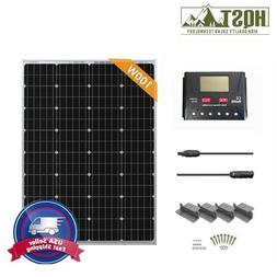 HQST 100W 12V Solar Panel Starter Kit W/ 30A Controller Off