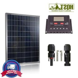 100W 12V Solar Panel Basic Kit 10A controller Off Grid Batte